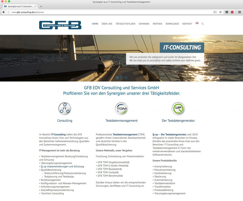 Website gfb-consulting.de
